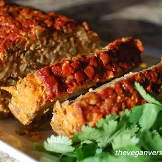 Lentil 'Meat' Loaf With Smoked Paprika Glaze [Vegan].