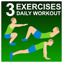 3 Exercises - Daily Workout icon