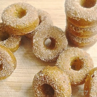 Baked Fresh Pumpkin Mini Doughnuts