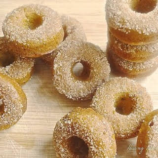 Baked Fresh Pumpkin Mini Doughnuts.
