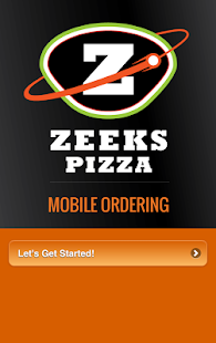 Zeeks Mobile Ordering- screenshot thumbnail