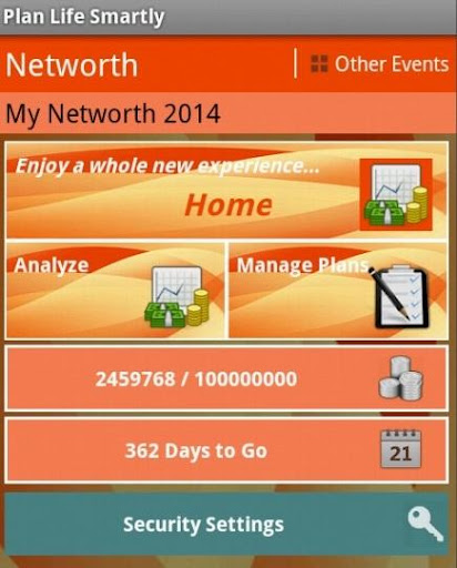 Networth Life Event