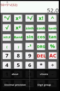 Scientific Calculator Alpha- screenshot thumbnail