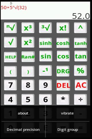Scientific Calculator Alpha- screenshot