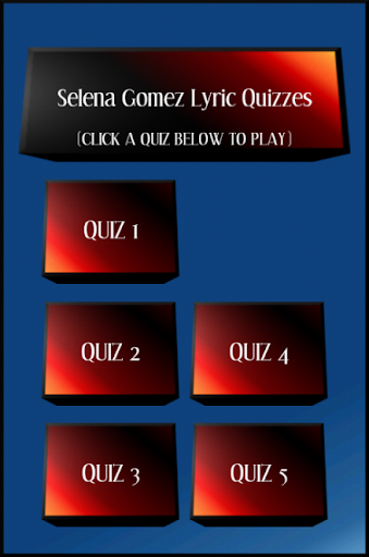 Selena Gomez Lyric Quiz