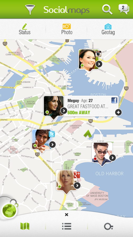 Socialmaps- screenshot