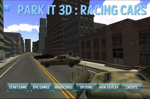 自由公園そのレーシングカーの3D