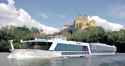 AmaCello-Exterior-Melk - Discover the beauty of Melk, Austria, perched on the banks of the Danube River as you sail past aboard AmaCello.