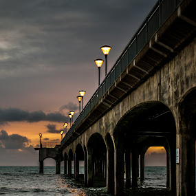 Boscombe Pier  by Mark Usher - Landscapes Beaches ( boscombe )