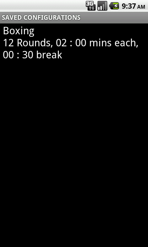 Round Timer for MMA & Boxing- screenshot