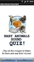 Screenshot of Baby Animals Sound Quiz!