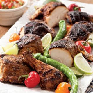 Butterflied Grilled Chicken with a Chile-Lime Rub.