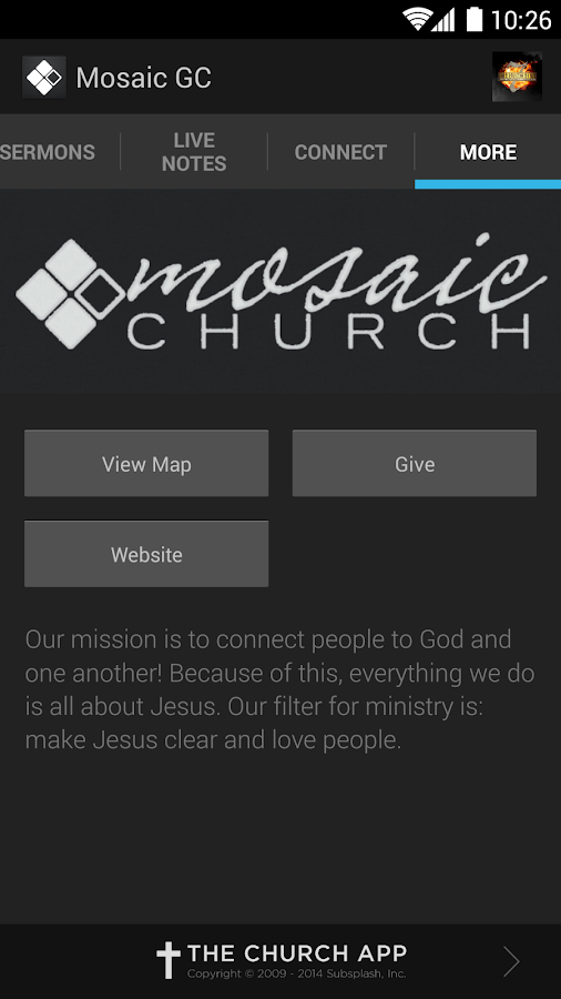 Mosaic Church GC - screenshot