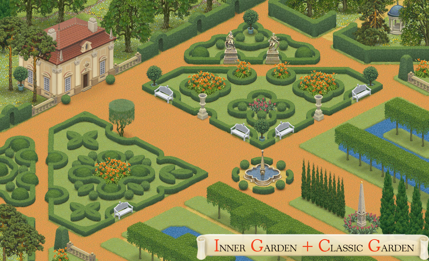 inner garden screenshot - Garden Design Game