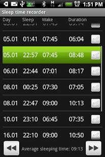 Sleep Log Automatic - screenshot thumbnail