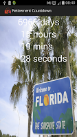 Screenshot of Retirement Countdown