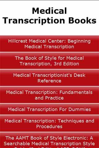 Medical Transcription Books