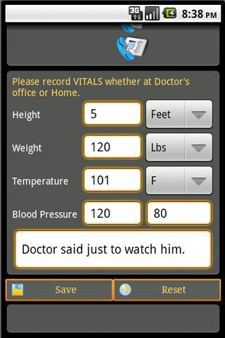 Health Record Book Lite- screenshot