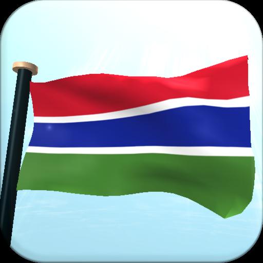 冈比亚旗3D免费动态壁纸 個人化 App LOGO-APP開箱王