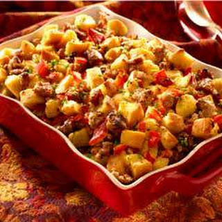 Super Moist Sausage & Bread Stuffing .