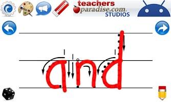Screenshot of Kids Handwriting Grade K HWT