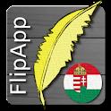FlipApp FamousQuotes Hungarian logo