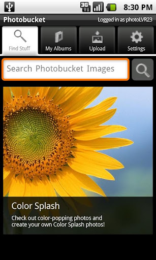 Photobucket Mobile – Aplicacion Android