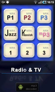 NRK Radio & TV streamer - screenshot thumbnail