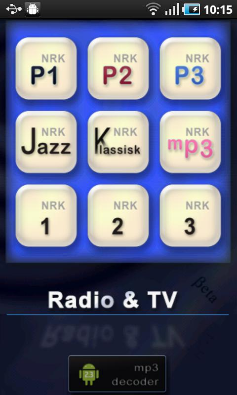 NRK Radio & TV streamer - screenshot