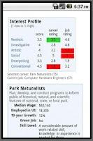 Screenshot of Find Career Interests