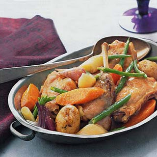 Rabbit, Carrot, Leek, and Green Bean Ragoût
