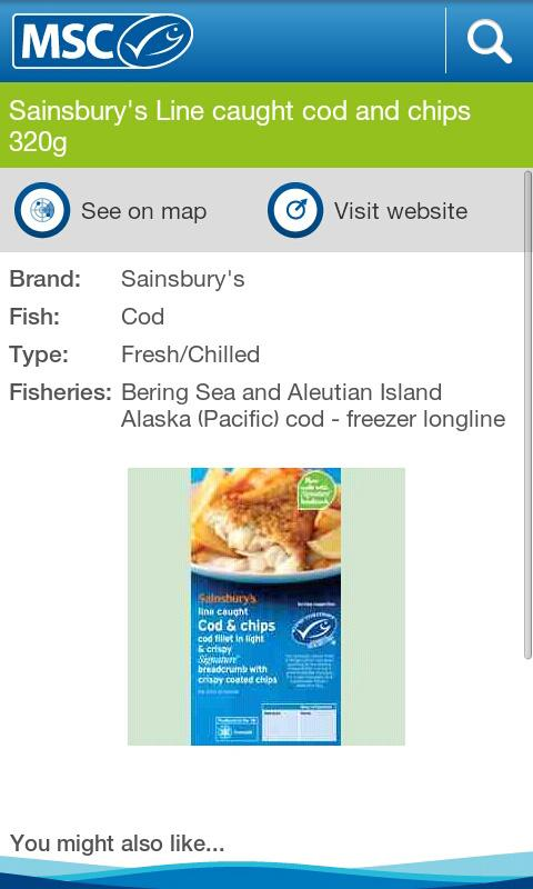 Seafood Finder - screenshot