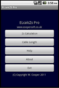 Cable Impedance Calculator Zs- screenshot thumbnail