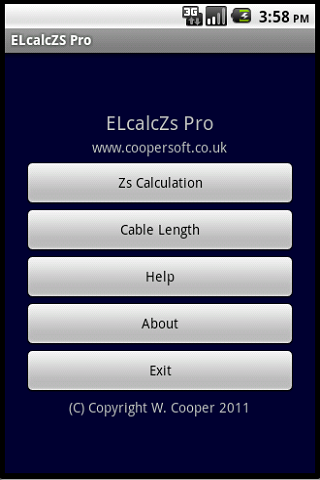 Cable Impedance Calculator Zs- screenshot