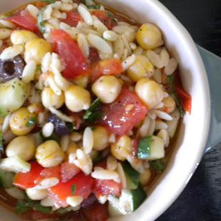 Tomato, Orzo and Chickpea Salad.