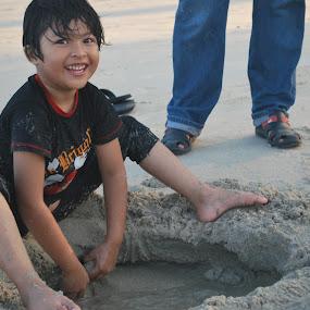 Me and Beach by Shafiq Azli - Babies & Children Hands & Feet (  )