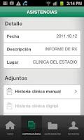 Screenshot of Suat Historia Clínica