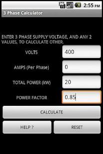 3 PHASE POWER CALCULATOR- screenshot thumbnail
