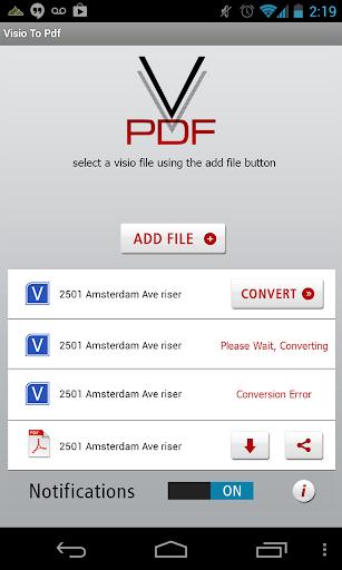 玩免費商業APP|下載Visio To PDF app不用錢|硬是要APP