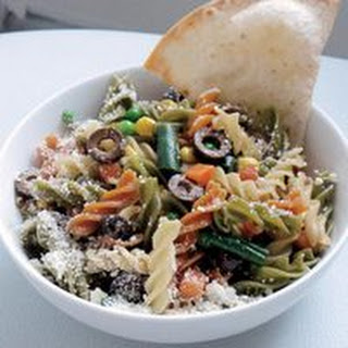 Erin'S Outrageous Not-Just-Pasta Salad with Baked Tortilla Chips Recipe