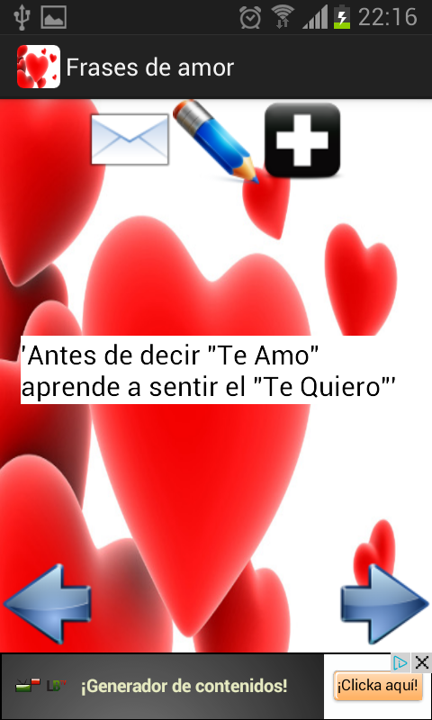 Frases de amor - screenshot
