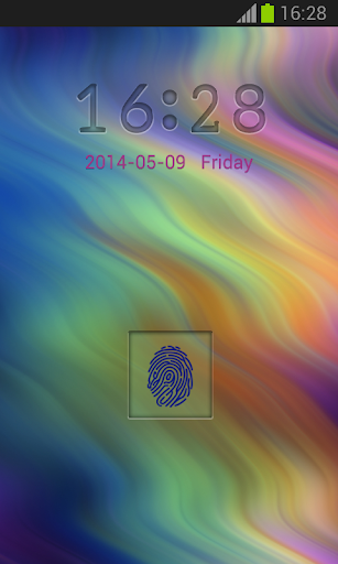 Lock Thumb Scanner Theme