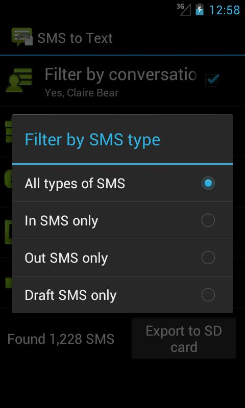 SMS to Text- screenshot