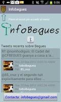 Screenshot of InfoBegues