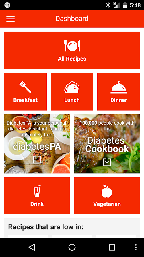 Diabetes recipe app android apps on google play diabetes recipe app screenshot forumfinder Choice Image