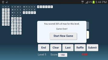 Screenshot of Word Ruffle