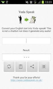 Yoda Speak - screenshot thumbnail