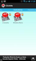 Screenshot of ClickMe