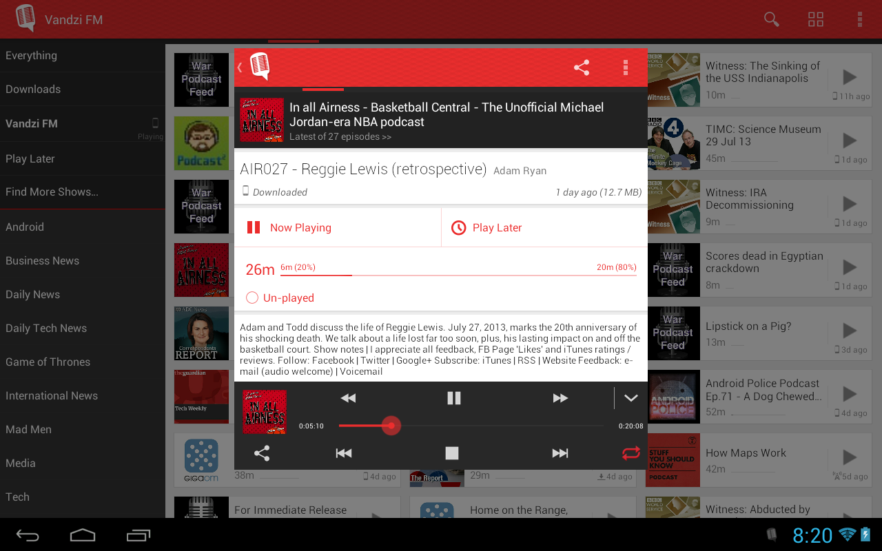 Player FM - Podcast and Sync - screenshot