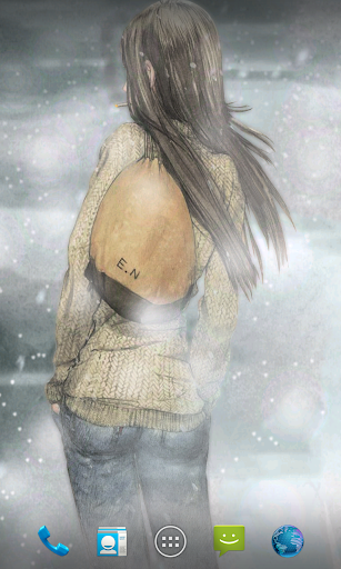 Winter Girl Live Wallpaper